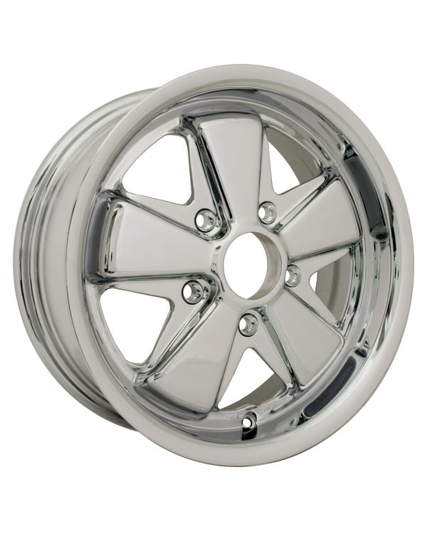 Flat4 911 Style Deep Dish Chromed Wheel 6x15'', 5/130 PCD, ET35