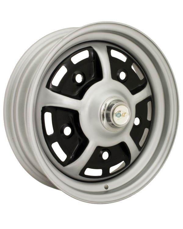 Sprintstar Wheel Black and Silver 4.5x15'', 5/205 PCD, ET25