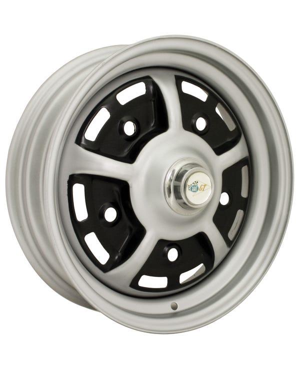 Sprintstar Wheel 4.5Jx15'' ET25 Black and Silver 5x205 Stud Pattern