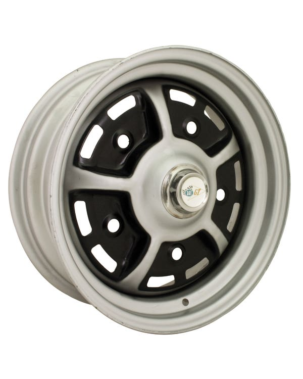 Sprintstar Wheel Black and Silver 5.5Jx15'' 5x205 Stud Pattern ET25