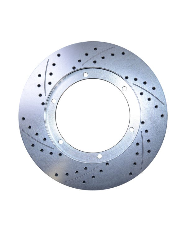 CSP Cross Drilled 15'' Vented Front Brake Rotor Right
