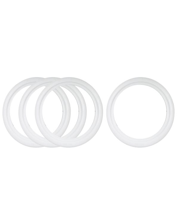 White Wall Tyre Trims 15'' Set of 4