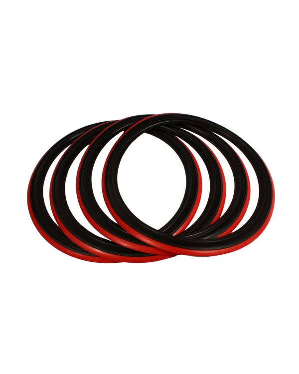 Red Band Tyre Trims 14'' Set of 4