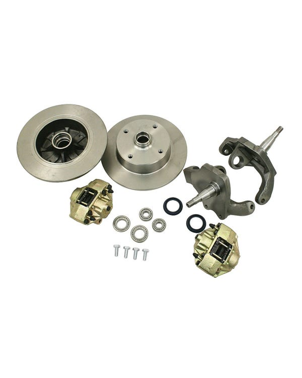 Front Disc Brake Kit for 4x130 Stud Pattern with Dropped Spindles