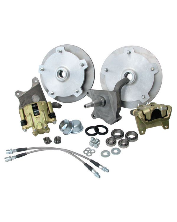 Front Disc Brake Kit 5x205 Stud Pattern with Dropped Spindles