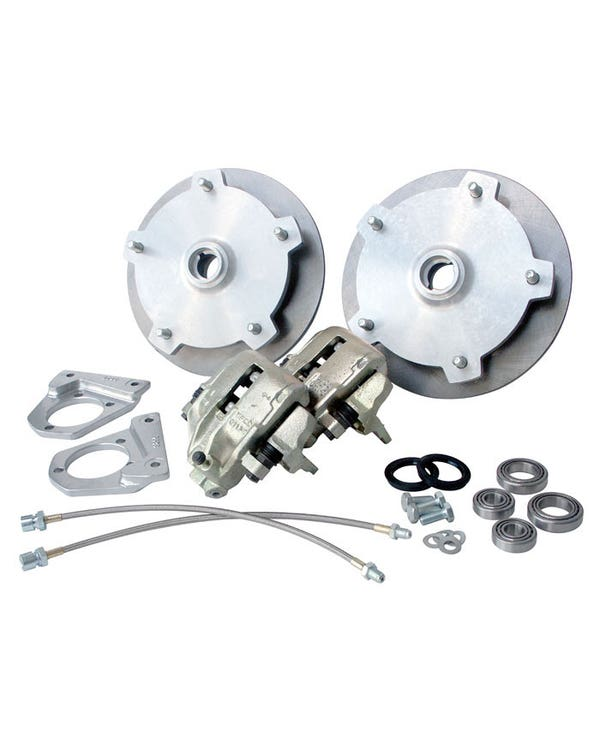 Front Disc Brake Kit with 5x205 Stud Pattern for Standard Drum Spindles