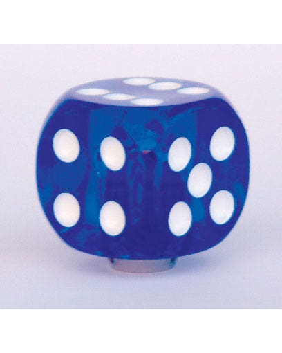 Schaltknauf, Blau, Würfel