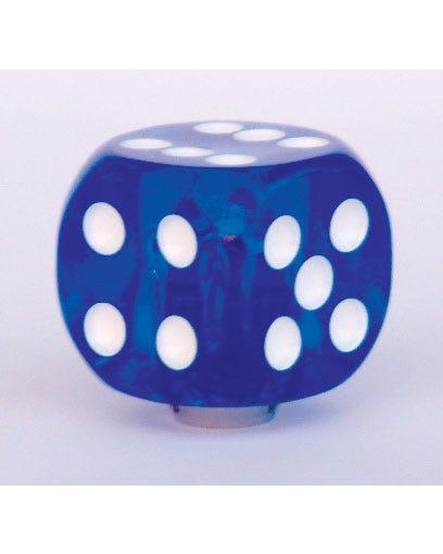 Pomo de palanca de cambios de dado azul
