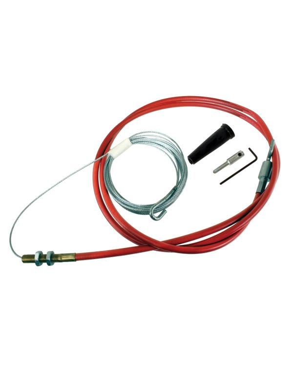 Accelerator Cable with Sheath for Single Carburettor