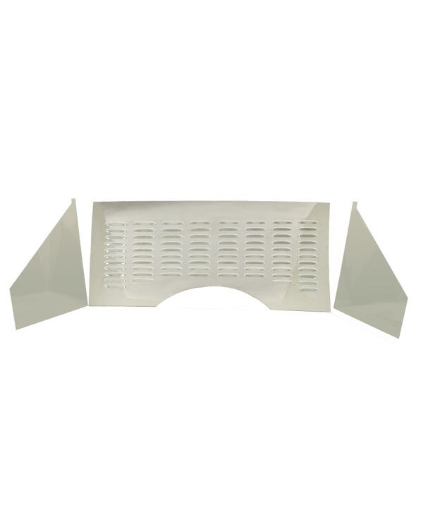 Firewall, stainless steel, louvered, 3pce
