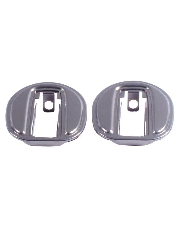 Par de placas para puertas blindadas
