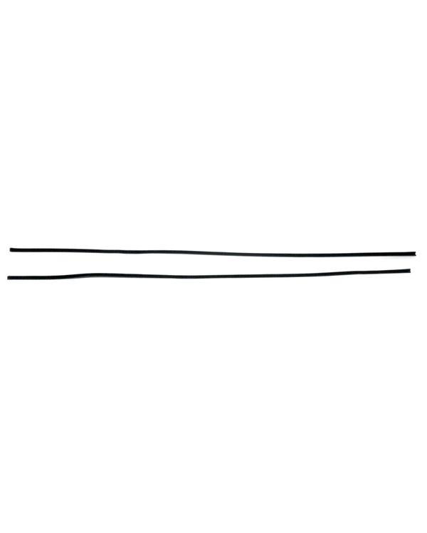 Samtleiste, extra lang, für einteilige Türscheiben