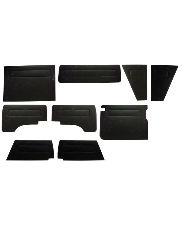 Door Panel Kit Finished in Black Vinyl for Left Hand Drive