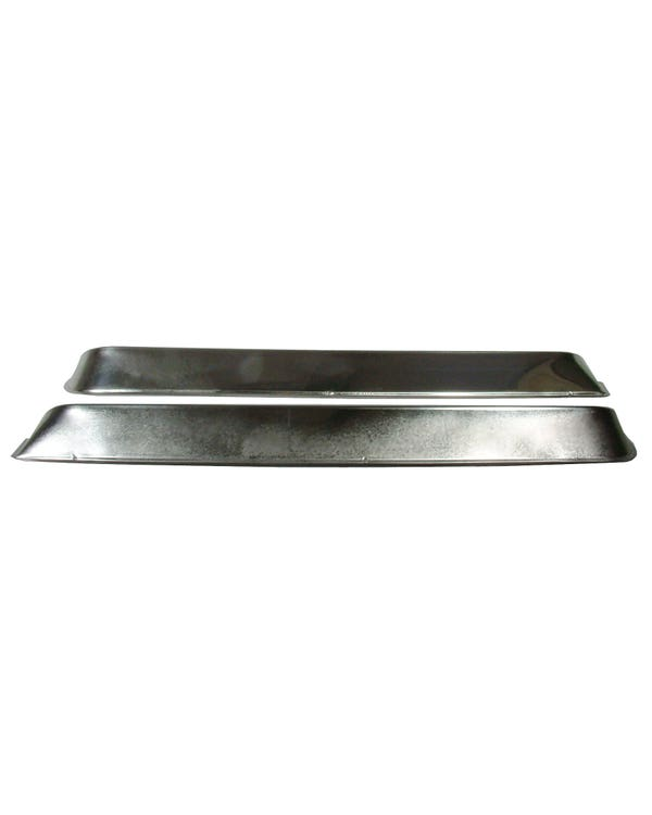 Window Vent Shades Stainless Steel Pair