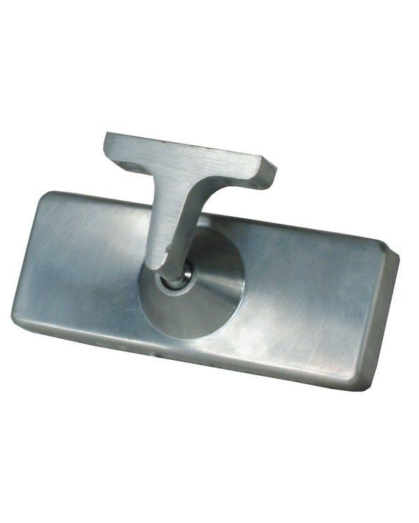 Innenspiegel, rechteckig, gebürstetes Aluminium, angeschraubt