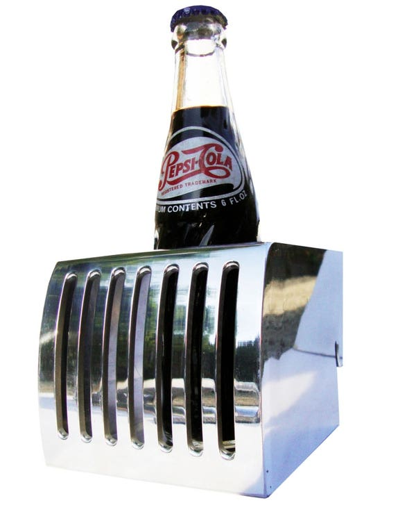 Dashboard Drinks Holder Polished Aluminium