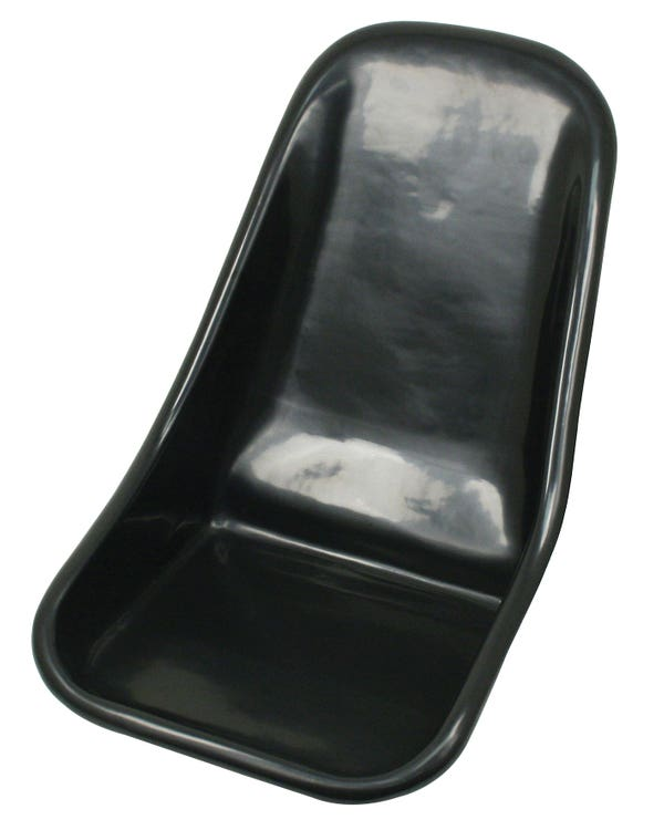 Kunststoffsitz mit niedriger Rückenlehne