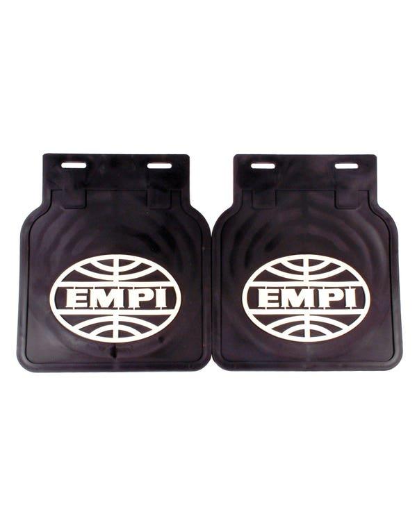 Mudflaps Black With White EMPI Logo Pair