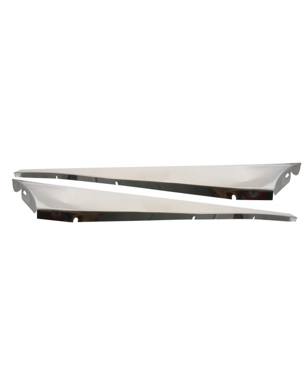 Running Boards Stainless Steel Plain Pair