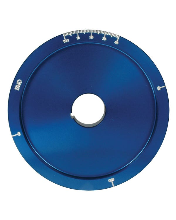 Serpentine Pulley and Belt Kit Blue Anodised