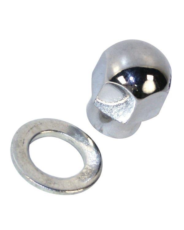 Mutter oder Unterlegscheibe, Chrom, für Riemenscheibe, Aluminium, 1200-1600cc