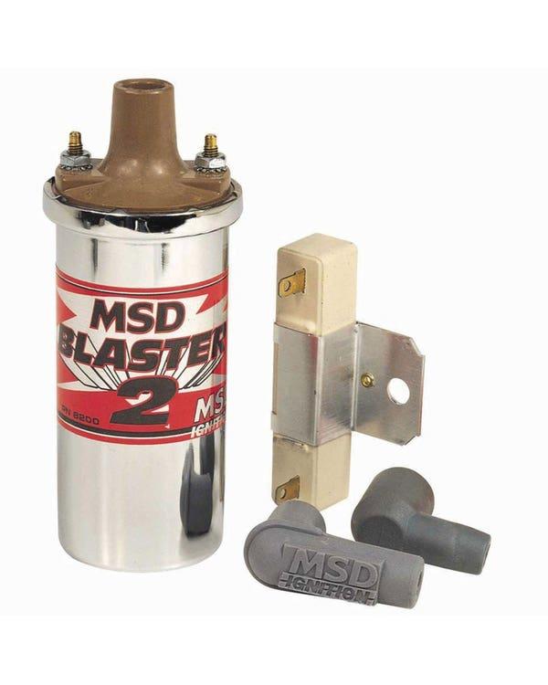 MSD Ignition Coil 12 Volt Blaster 2 in Chrome