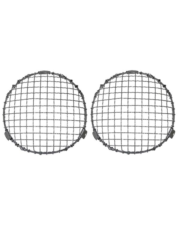 Headlight Chrome Mesh Grilles Internal Fitment Pair