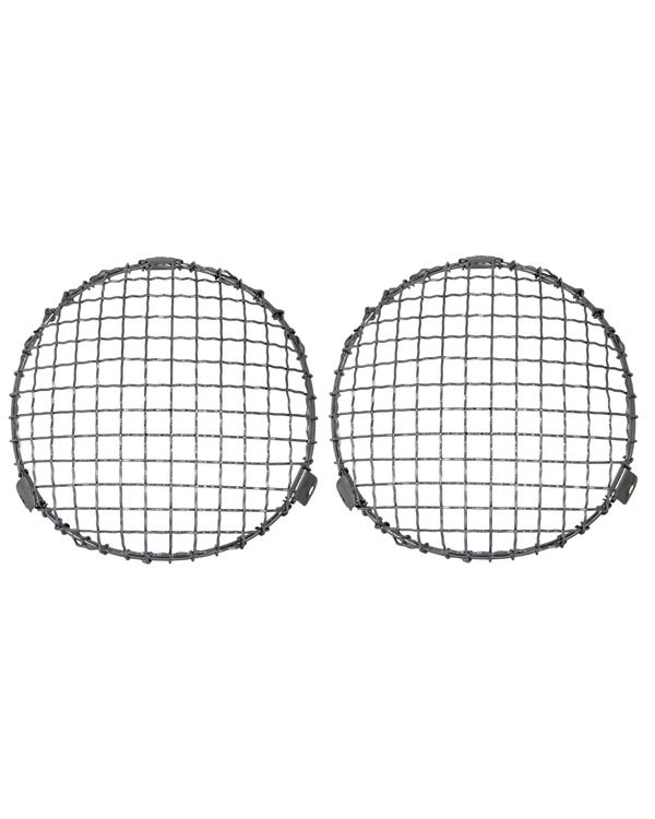 Headlight Chrome Mesh Grilles Internal Fitment Pair