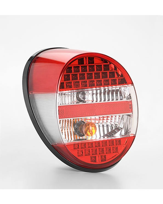 Komplettes Rücklicht mit LED-Leuchten, klar und rot