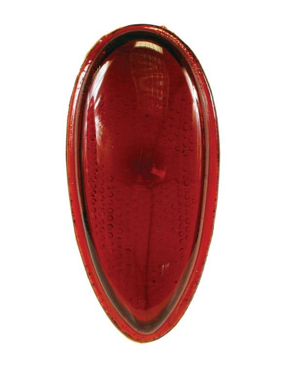 Teardrop Rear Light Lens in Red