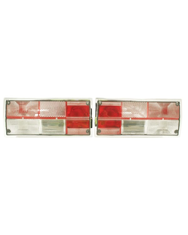 Rear Light Set with Clear Lens Hella Type