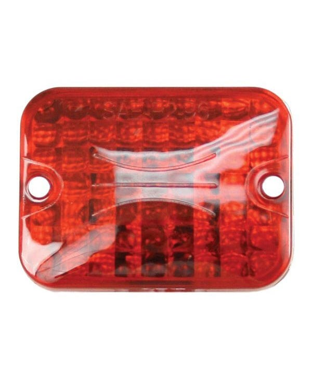 Luz mini trasera con lente roja