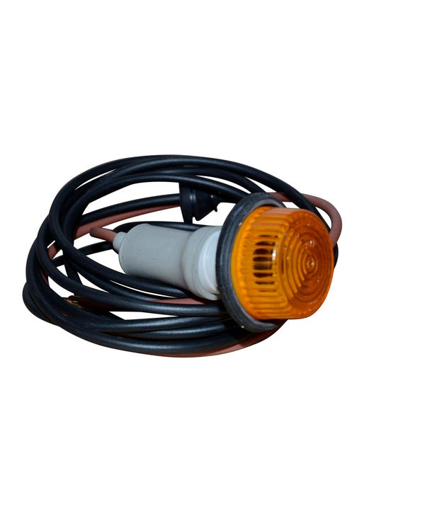 Turn Signal round 60mm amber, pair