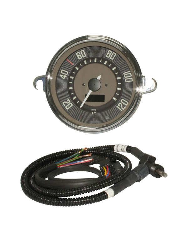 Smiths Tachometer, 120km/h, braun