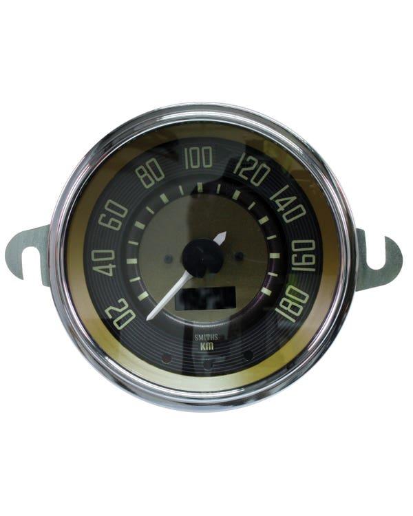 Smiths Tachometer, 180km/h, braun