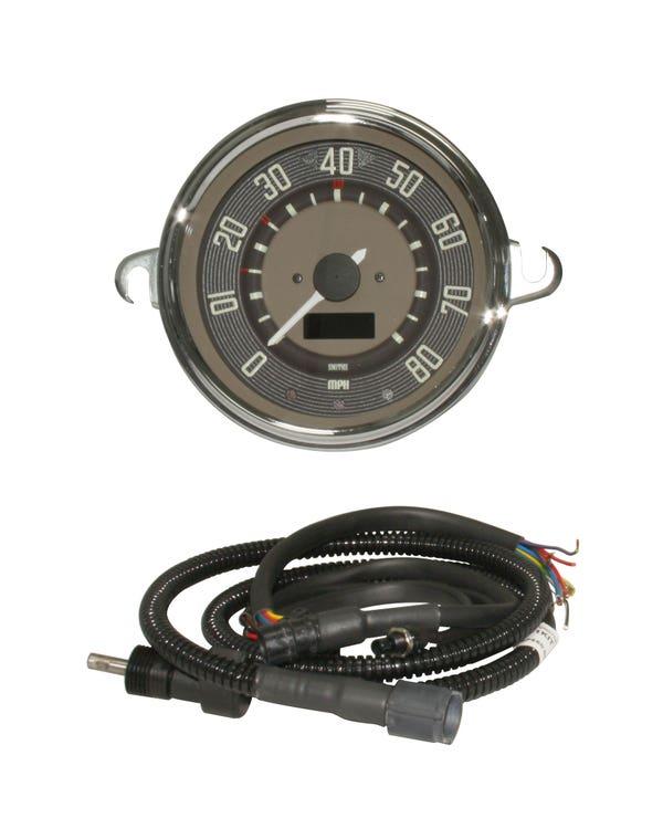 Smiths Tachometer, 80mph, braun