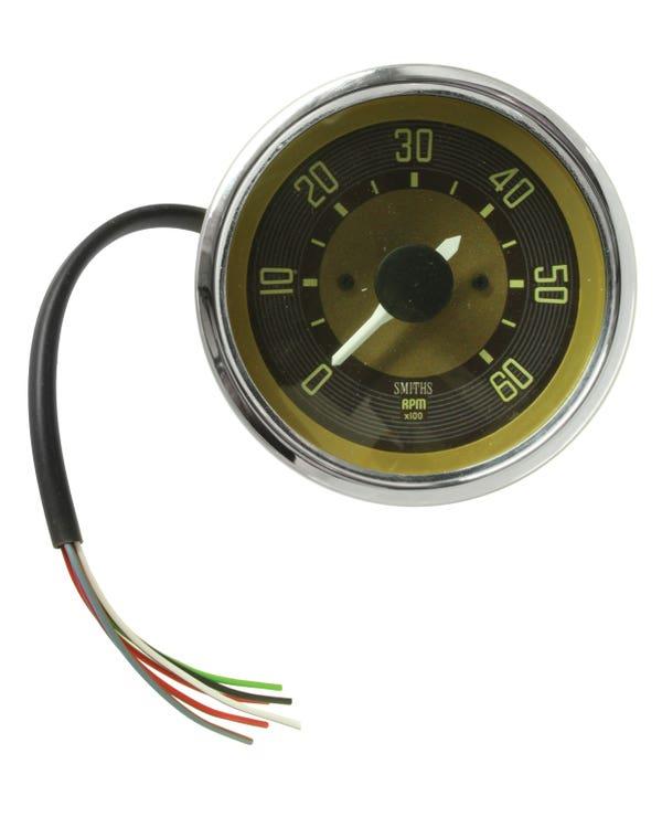 Smiths Drehzahlmesser 6000 U/min im OE-Design 80mm Durchmesser , braun