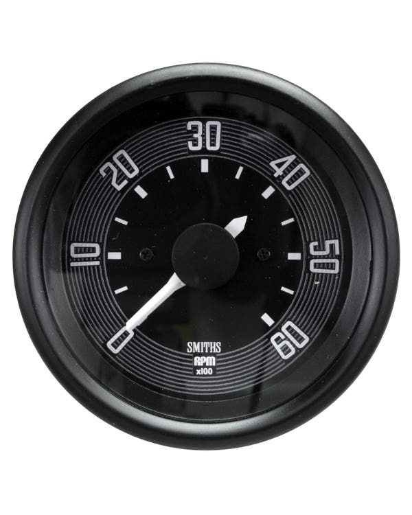Smiths Original Style Tachometer 6000RPM 80mm Black