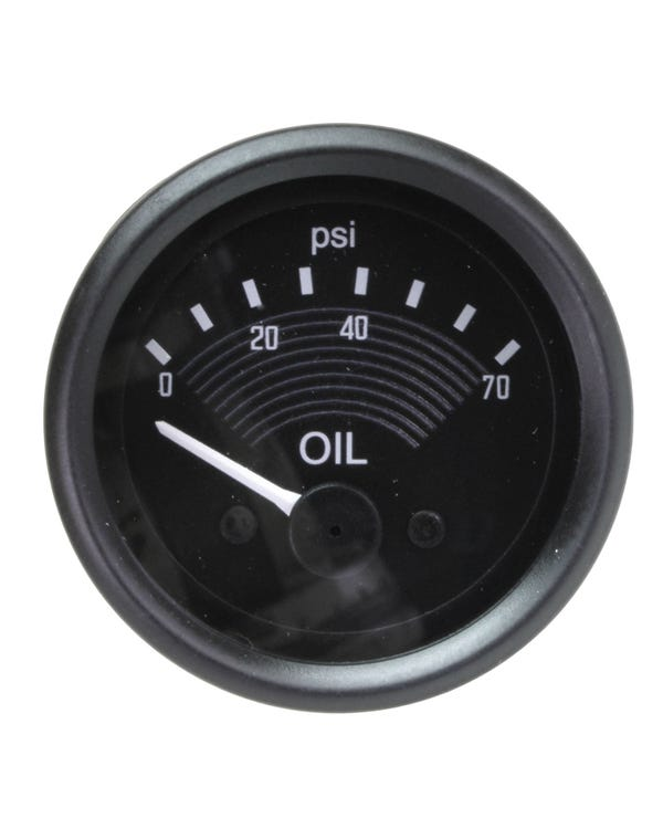 Smiths Original Style Oil Pressure Gauge 70PSI 52mm 12V Black