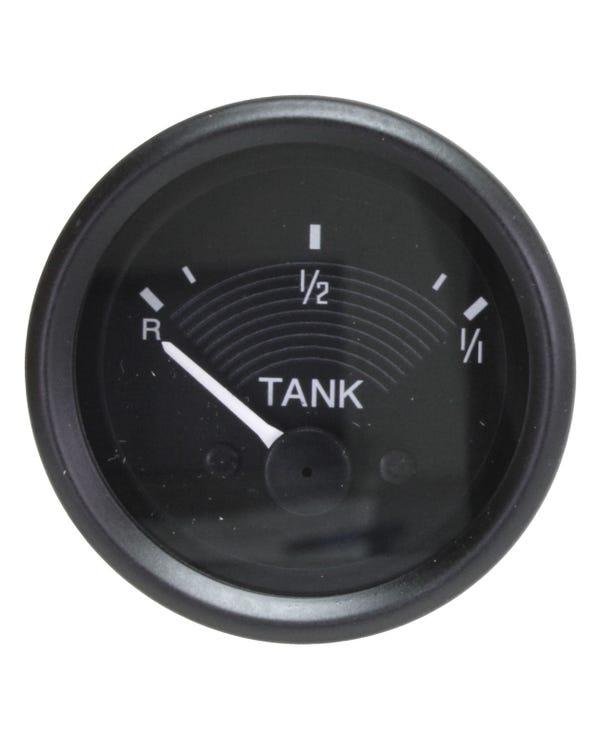 Tankanzeige, 6V, schwarz, 52mm