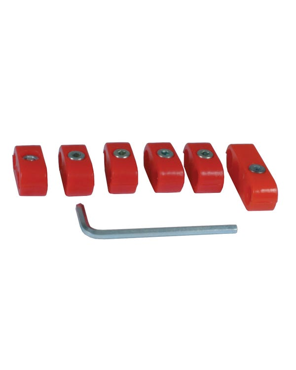 Ignition Lead Separator Set for 7mm Leads Red