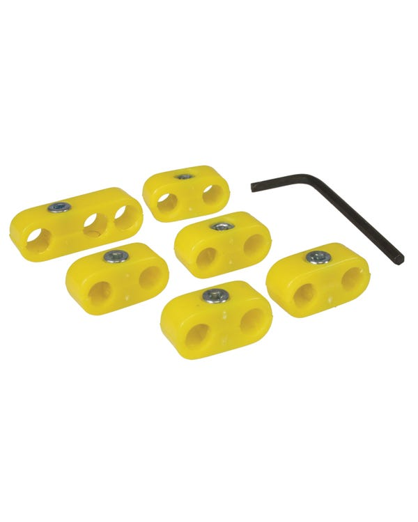 Ignition Lead Separator Set for 7mm Leads Yellow