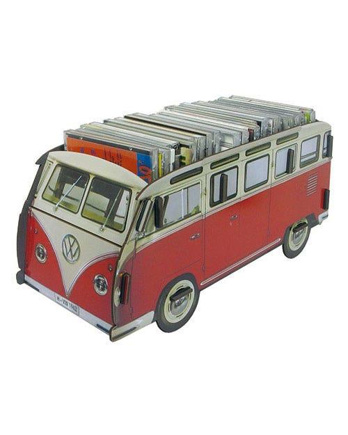 Desk Tidy Pencil Box Splitscreen Van Red and White Samba