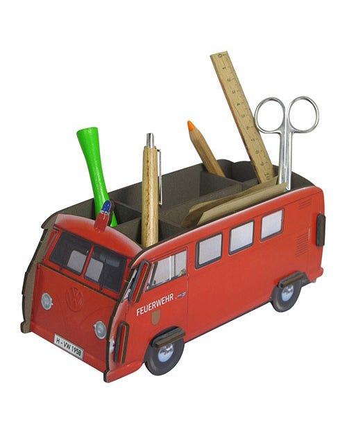 Desk Tidy Pencil Box Splitscreen Van Firewagen Kombi