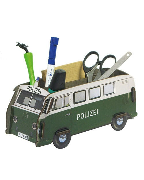 Desk Tidy Pencil Box Splitscreen Van Police Kombi