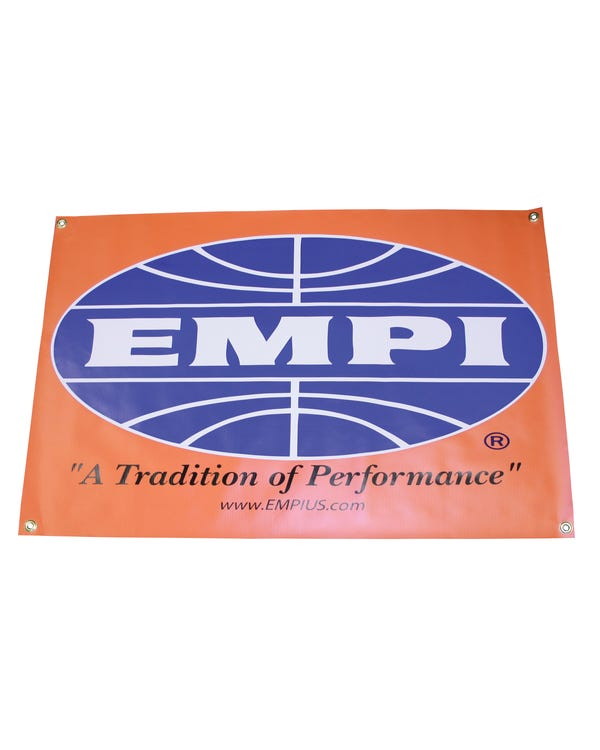 EMPI Banner Orange Vinyl with Eyelets 36x24 Inches
