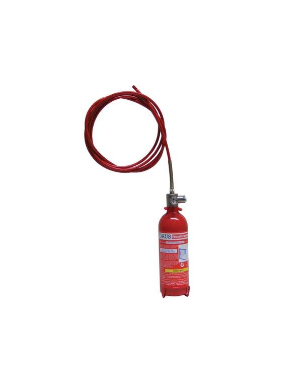 Extintor automático de 1Kg de baja presión.Vertical de polvo seco
