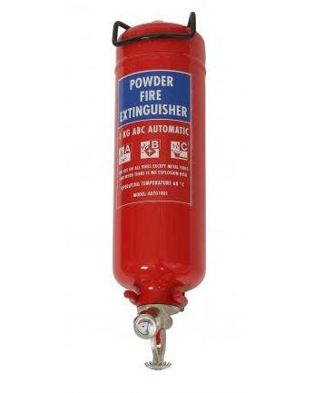 Firechief Automatic Slimline 1Kg Powder Fire Extinguisher