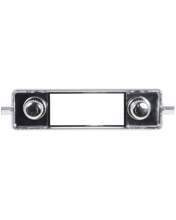 Chromed Stereo Faceplate including Knobs and Escutcheons