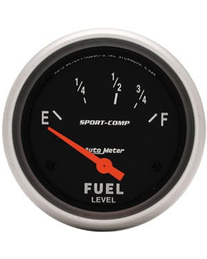 Autometer Sport Comp Fuel Gauge for Beetle Sender 2 1/16 Inch